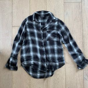 Topshop Flannel Button-Up